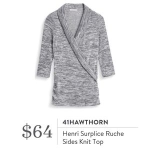 41Hawthorn Stitch Fix Henri surplice ruched top